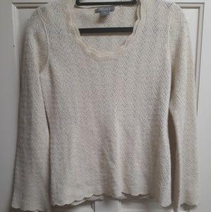 ANN TAYLOR | Longsleeve Sweater w Gold Threading